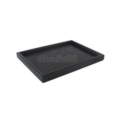 Vintage Japanese Wooden Serving Tray SPA Tea Food Dinner Black Dish Plate-S