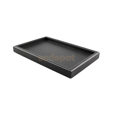 Vintage Japanese Wooden Serving Tray SPA Tea Food Dinner Black Dish Plate-XS