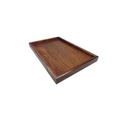 Handmade Natural Wood Tray Tea Cup Brown Serving Oriental Dessert Plate-XS