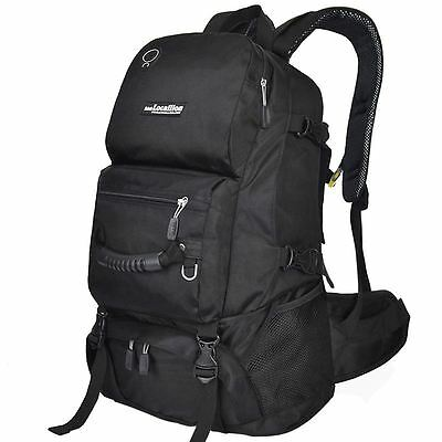 40L LOCALION Rucksack Travel/Hike/Camp/Mountaineering Backpack Sports Bag Black