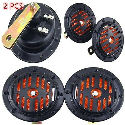 2PC Metal Grille Mount Loud Compact Electric Blast Horns Car SUV Universal 12V