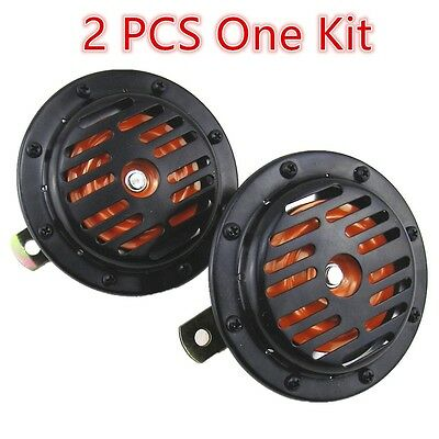 12V Two Metal horn Mount Super Loud Compact Electric Blast Horns Universal SUV
