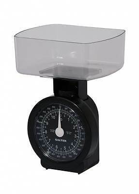 Salter Compact Mechanical Kitchen Food Scale Black & Clear