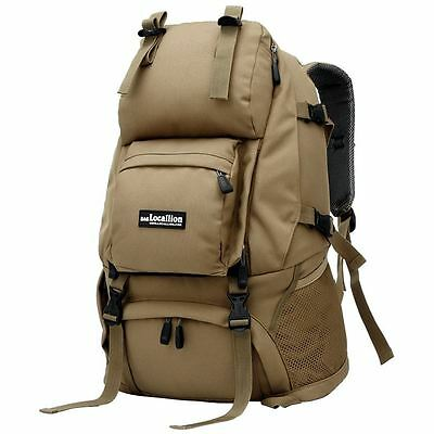 45L LOCALION Outdoor Backpack Multi-function Travel/Hike/Sports Rucksack Khaki