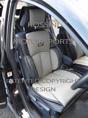 To Fit A Kia Soul Ev Car, Seat Covers, Ys 01 Rossini Grey/Black, 2 Fronts