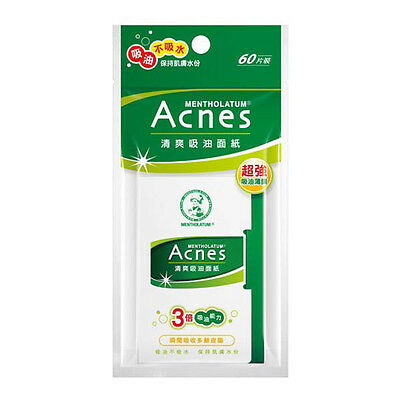 Mentholatum Acnes Facial Oil Absorbing Blotting Paper 60 Sheets Triple Effect