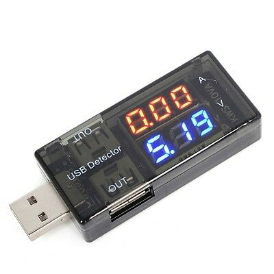 USB Current Voltage Tester USB Voltmeter Ammeter Detector Double Row Shows New