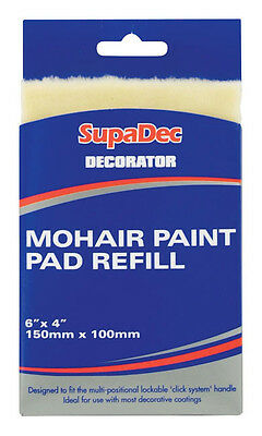 """Decorator Paint Pad Mohair Refill 6"""" X 4"""" - Free Uk Postage"""