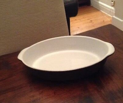 "Denby Savile Grey Dinner Vegetable Serving Dish With Handles 12"" Very Good Cond"