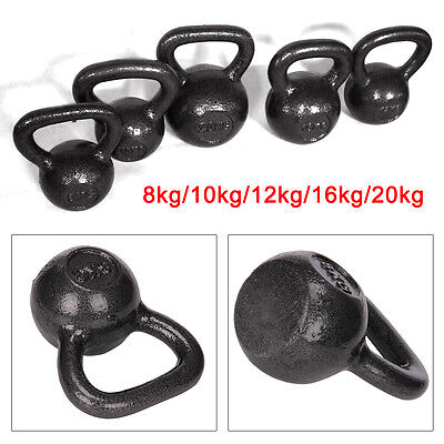 Kettlebells cast iron 8kg-20kg home gym fitness exercise workout kettle bell
