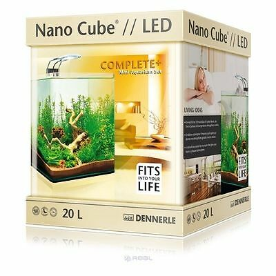 Dennerle NanoCube Complete Plus 20L Nano Aquarium + Filter & LED Fish Tank