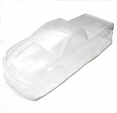 BS908-008C 1/10 1/8 Scale RC Nitro Monster Truck Body Shell Cover Clear