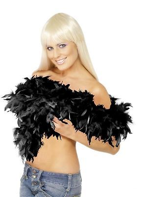 Black 1920's Burlesque Feather Boa Flapper Fancy Dress Accesories