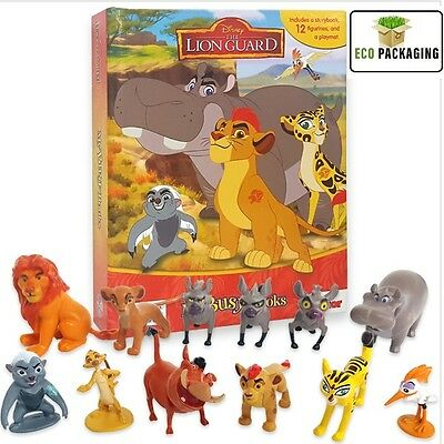 Disney Junior The Lion Guard Busy Book Kids 12x Figures Playmat Cake Toppers NEW