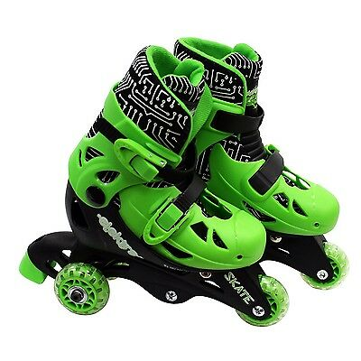 Elektra Small Green Triline Adjustable Boots Children Rollerskates Outdoor Toys
