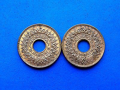 1941 Thailand 1 Satang Bronze Coin, UNC luster, Each purchase=1 coin from photos