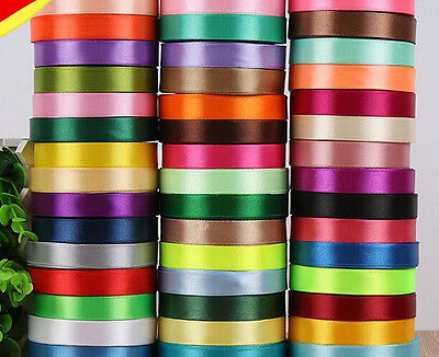 25 Yard Satin Ribbon Wedding Party Decoration Craft Sewing Many Colors Pick 25mm