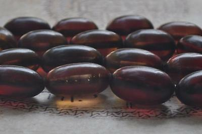 Vintage Bakelite necklace beads-Simulated Amber