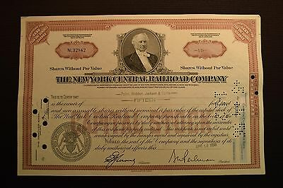 1956 The New York Central Railroad Company Stock Certificate NL32842