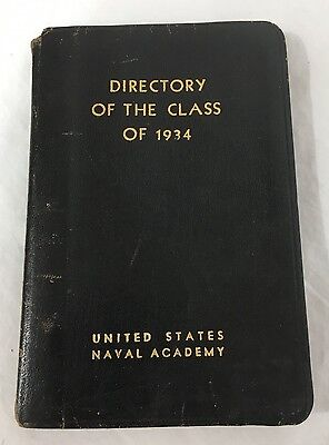 US Naval Academy Directory For The Class Of 1934