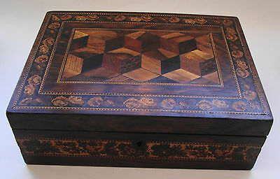 Antique Tunbridge ware trinket/ jewellery box