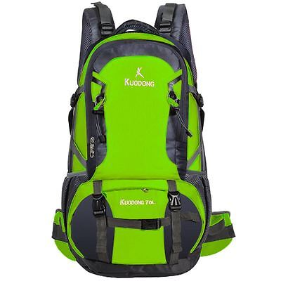70L Kuodong Rucksack Hike Mountaineering Backpack Outdoor Travel Bag 1041 Green