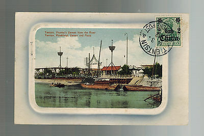 1912 Tientsin China German Post Office Real Picture Postcard Cover to Austria