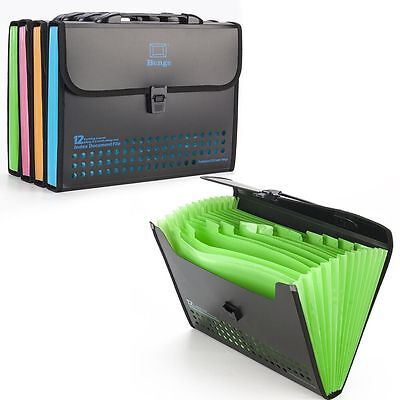 13 Pocket Expanding Box File Organiser A4 Documents Paper Foolscap Folder Wallet