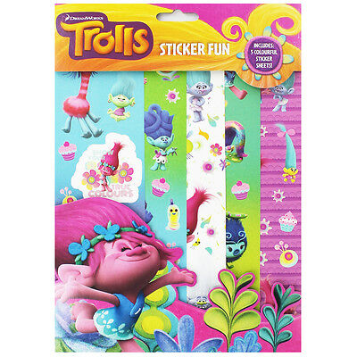 Trolls Sticker Fun, Children's Books, Brand New