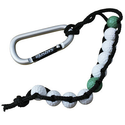 New Masters Golf Bead Stroke Counter - attaches to your bag by carabiner clip