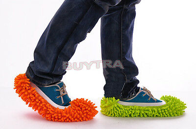 New Dust Floor Cleaning Slippers Shoes Mop House Clean Shoe Cover Multifunction