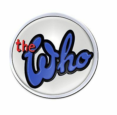 The Who band logo 73 new official collectable metal lapel Pin Badge One Size