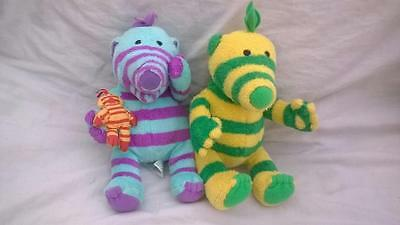 2 x Fisher Price Fimbles Soft Toys Fimbo & Florrie and Little One 15cm g20