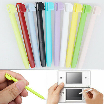 10x Colorful Plastic TOUCH STYLUS PEN FOR NINTENDO NDS DS LITE DSL Video Games