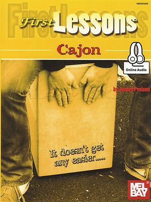 First Lessons Cajon Sheet Music Book with Audio Learn How To Play Method