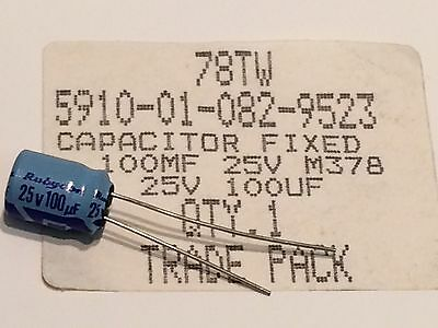 100UF 25V RUBYCON TWSS RADIAL ELECTROLYTIC MILITARY SPEC CAPACITOR         fd6k7