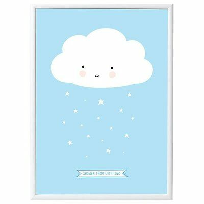 A little lovely Company Poster Wolke Blau