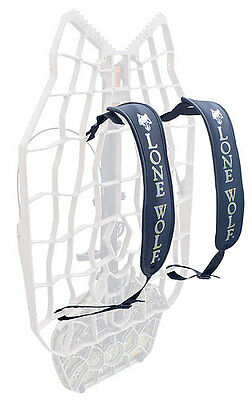 Lone Wolf Padded Back-Pack Straps Black Pair