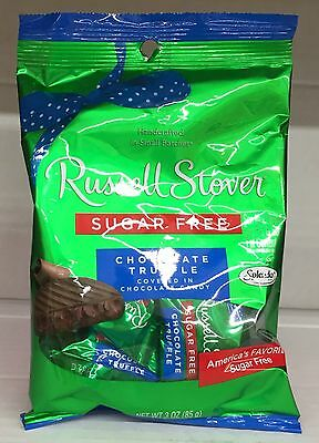 Russell Stover Sugar Free Chocolate Truffle Covered in Chocolate Candy 3 oz