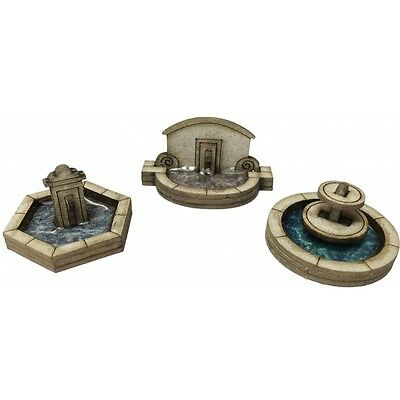 Metcalfe PN823 N Scale Stone Fountain Set Entrance Card Building Kit