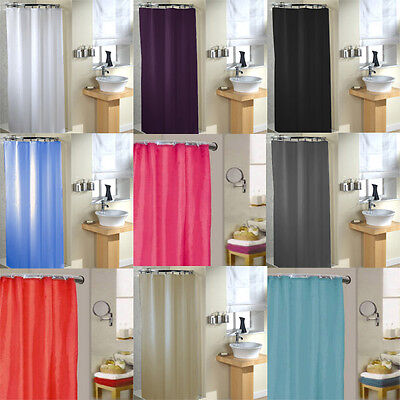Linens Limited Plain Polyester Shower Curtain