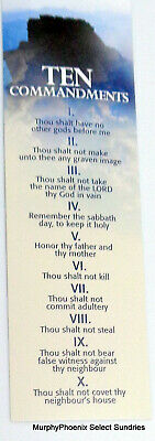 Lot of 10 Bookmarks The Ten Commandments FREE SHIPPING!!