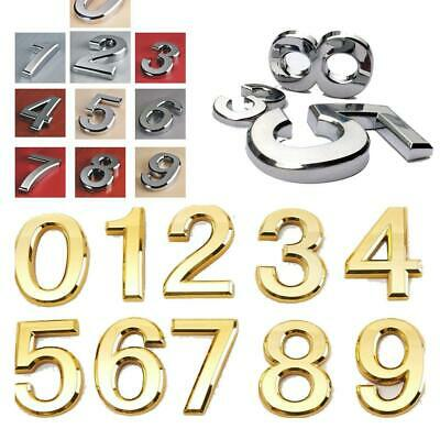 3D Plastic Self-Adhesive House Hotel Door Number Sticky Numeric Digit Plate Sign