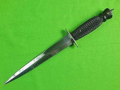 RARE British English WW2 FAIRBAIRN SYKES William Rodgers Ebony Commando Knife
