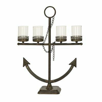 Alluring Metal Glass Candle Holder