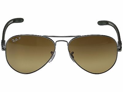 8e04383721a Ray Ban TECH RB 8307 004 M7 Carbon Fiber Brown Sunglasses Polarized 58mm New
