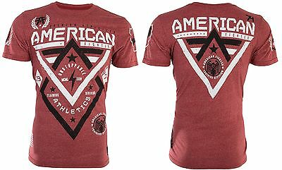 AMERICAN FIGHTER Mens T-Shirt ALASKA Athletic RED Biker Gym MMA UFC $40