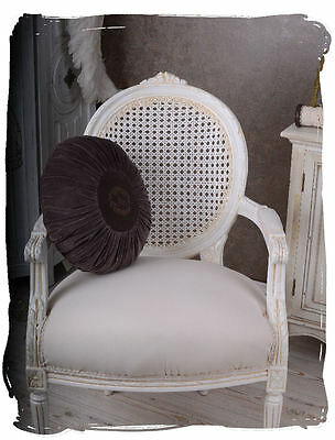 Vintage Armchair White Rococo Chair Shabby Chic French Chateau Chair