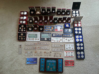 Huge  Estate  Lot  All Silver Coins Proofs Canada & Us Mint  Bu Plus