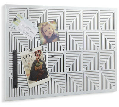 Modern Metal Bulletin Board with - Pins and Magnets Included